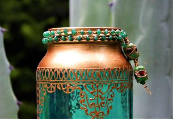 Emerald and Copper Moroccan Lantern