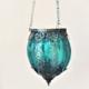 Teal hanging lantern