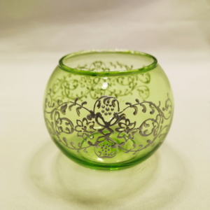 light green tealight holder