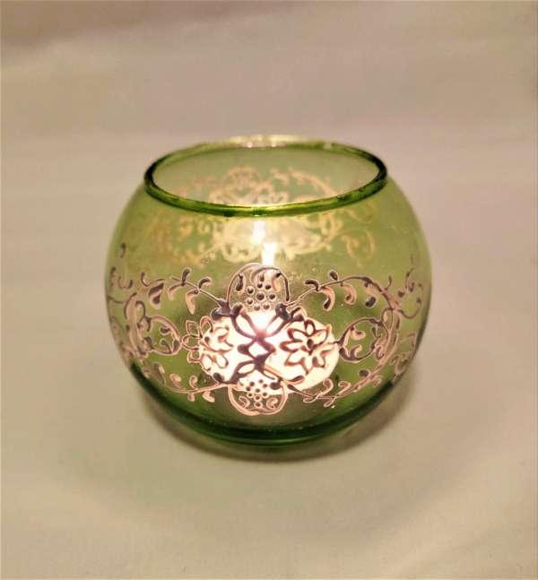light green tealight holder