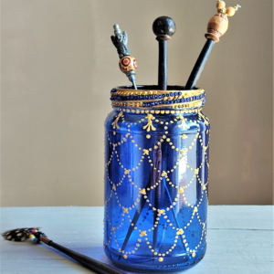 Cobalt blue beaded rim