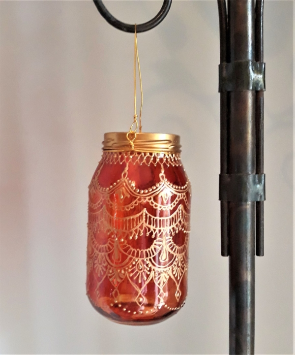 Henna decor candle holder