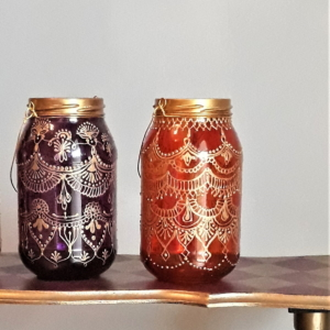 Hippie chic candle holder