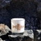 Gold Engraved Knot – Opaque white candle holder