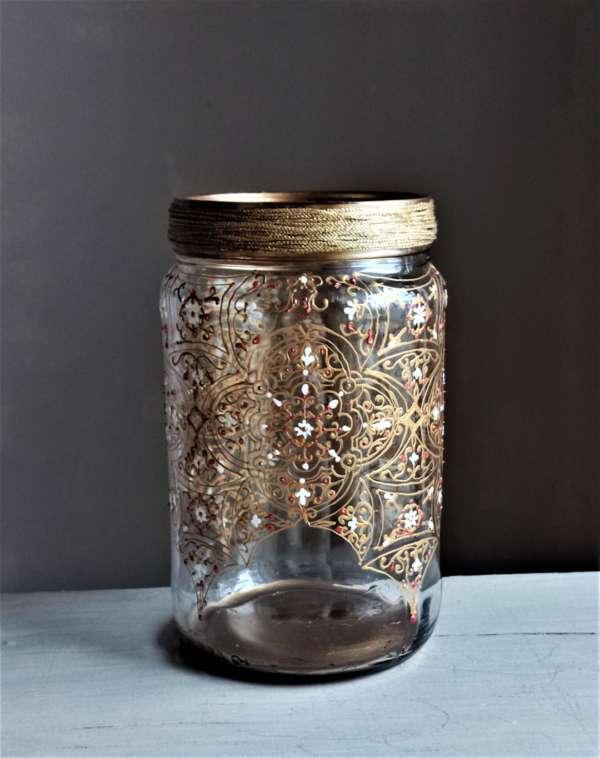 Ornate clear glass