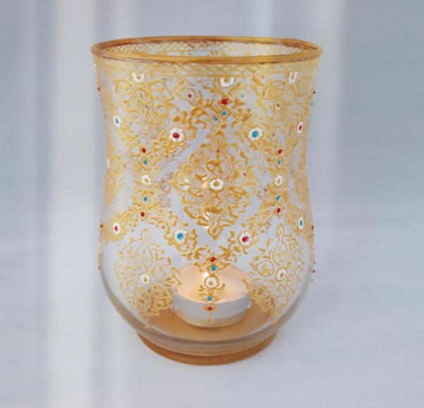 Ornate glass seamless pattern