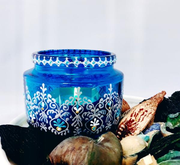 Ultramarine Bohemian Candle Holder