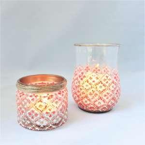 orange Alhambra candle holder
