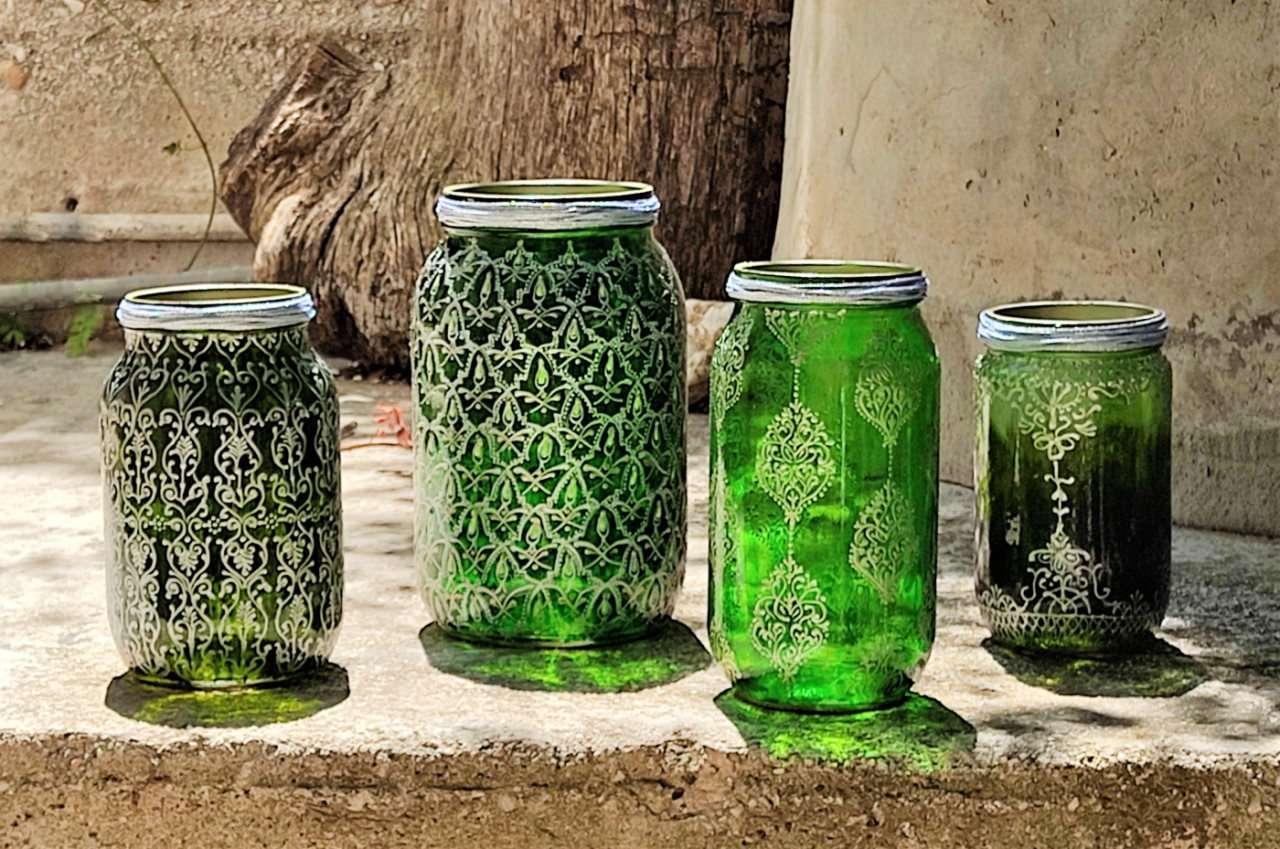 Bahia green glass collection