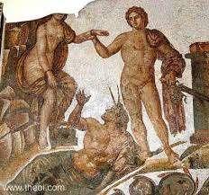 Andromeda and Perseus - Ancient Greco Roman mosaic