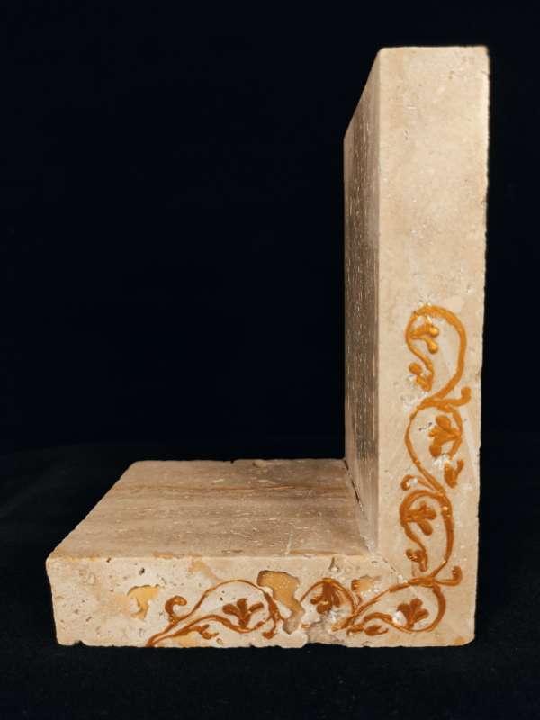 Yellow limestone bookends