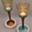 Long stem glass candle holder