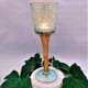 Long stem glass candle holder