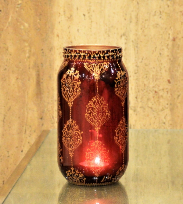Damask strings burgundy