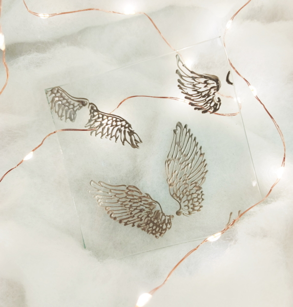 scattered angel wings