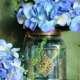 Blue quadrangle glass