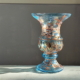 Light blue venetian glass