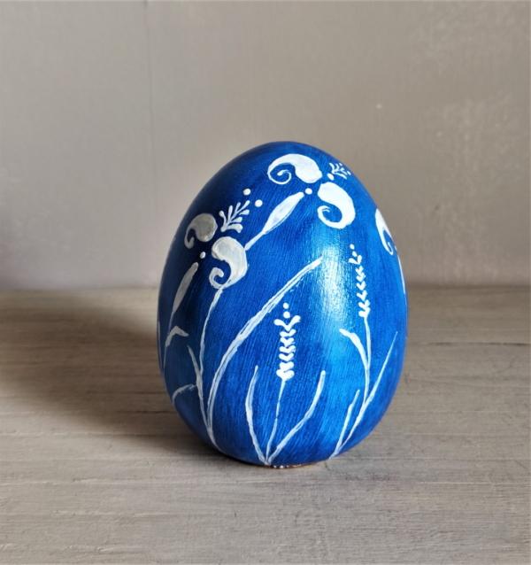 Blue Azzure Ceramic Egg
