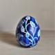 Indigo Blue Ceramic Egg