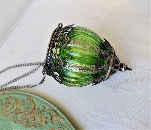 Light green hanging lantern