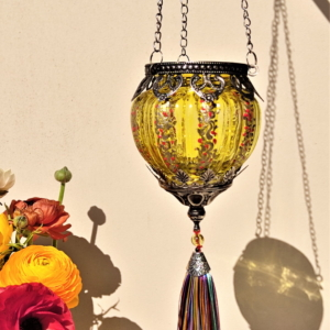 Yellow embellished lantern
