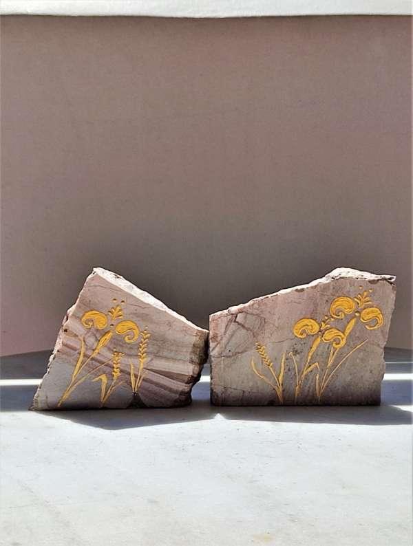 Minoan flower paper weights